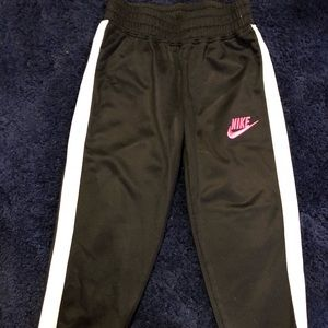 Girl's Nike Sweat Pants with Pink Logo